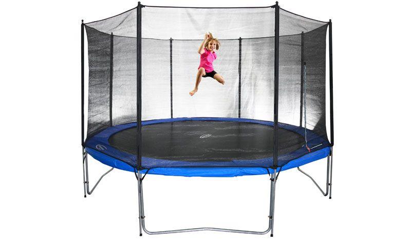 trampolin sicherheitsnetz air 370 ohne stangen. Black Bedroom Furniture Sets. Home Design Ideas
