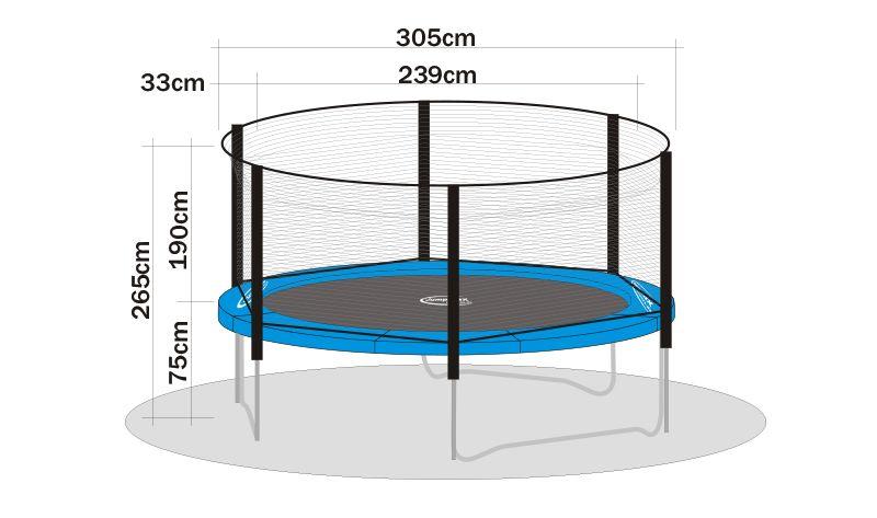 sicherheitsnetz superair f r trampoline 310 cm trampoline von jumpmax g nstige. Black Bedroom Furniture Sets. Home Design Ideas