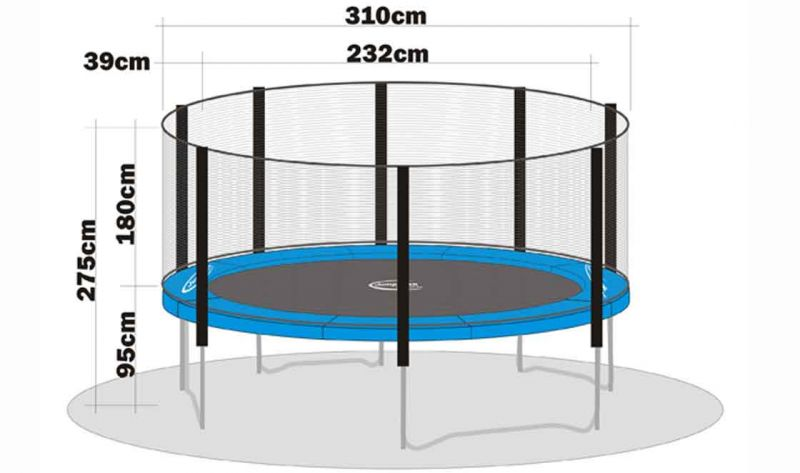 trampolin sicherheitsnetz megaair 310 ohne stangen trampoline von jumpmax g nstige. Black Bedroom Furniture Sets. Home Design Ideas