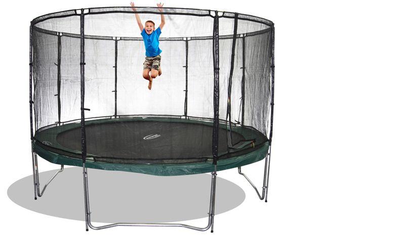 trampolin sicherheitsnetz megaair 490 ohne stangen. Black Bedroom Furniture Sets. Home Design Ideas