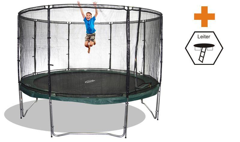 riesentrampolin set megaair 460 mit sicherheitsnetz und leiter trampoline von jumpmax. Black Bedroom Furniture Sets. Home Design Ideas
