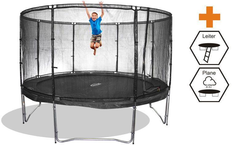 trampolin megaair 490 sicherheitsnetz leiter und. Black Bedroom Furniture Sets. Home Design Ideas