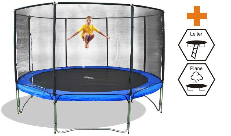 trampolin set superair 310 mit netz leite und plane. Black Bedroom Furniture Sets. Home Design Ideas
