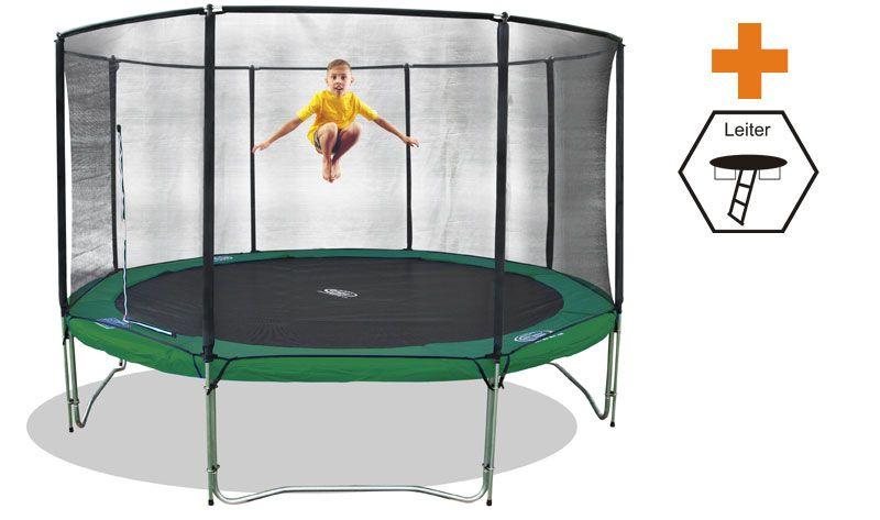 trampolin superair 430 mit sicherheitsnetz und leiter trampoline von jumpmax g nstige. Black Bedroom Furniture Sets. Home Design Ideas